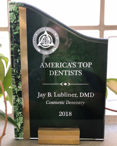 Jay B. Lubliner, DMD, Recognized as one of America's Top Dentists
